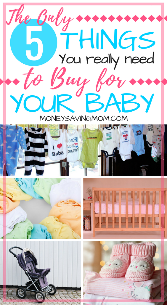 On a budget with baby on the way? This list of essential baby items is SO helpful! Aside from lots of love and nurturing, these are the only 5 things you truly NEED!