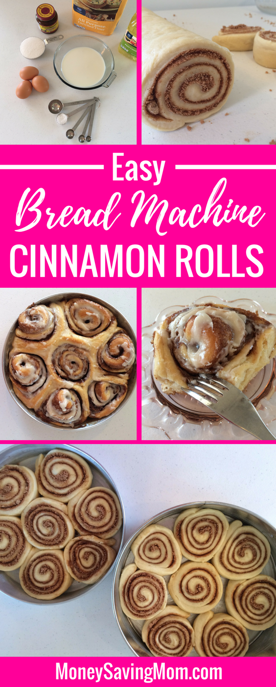 Easy Bread Machine Cinnamon Rolls Recipe
