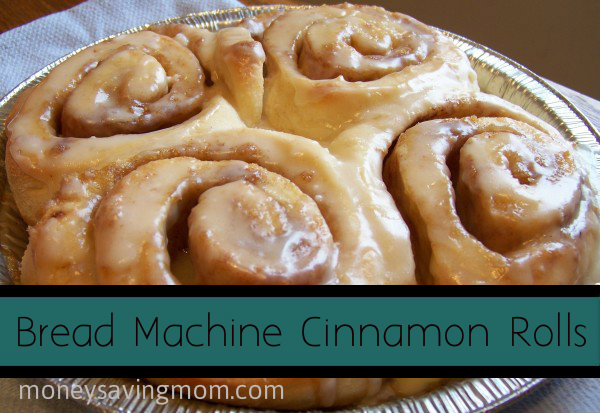 cinnamon rolls in bread machine