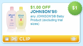 Coupon for johnson and johnson baby products