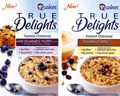 There's a new coupon out for $1/1 Quaker True Delights Oatmeal ...