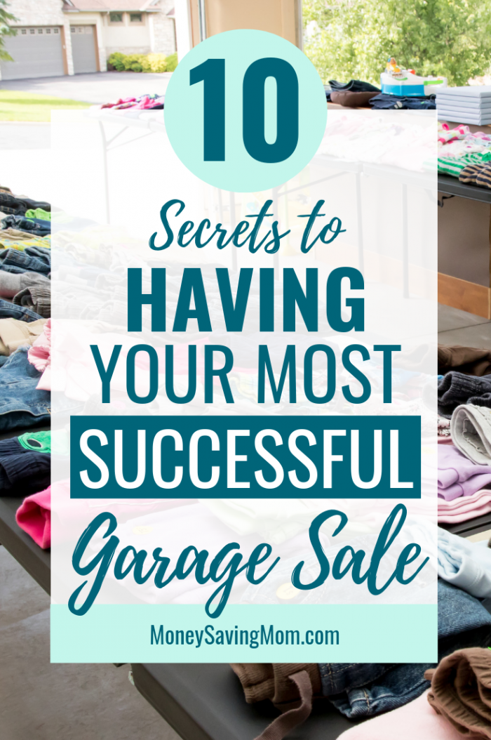 photo regarding Printable Garage Sale Price List named 10 Ideas for Getting a Rewarding Garage Sale : Financial Conserving Mom®