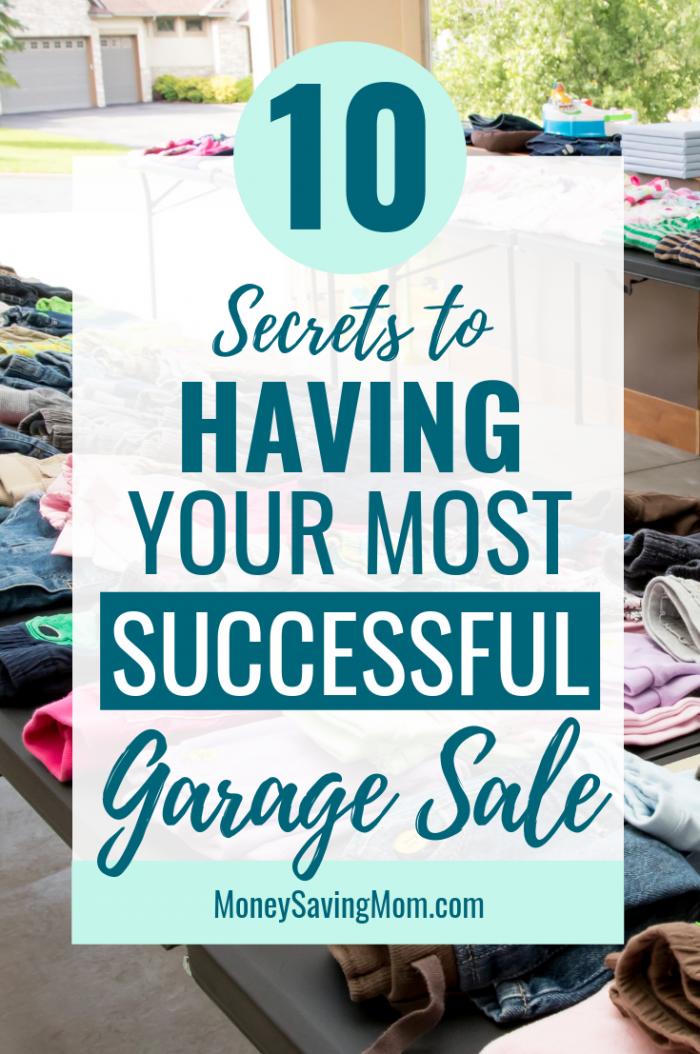top 10 garage sale tips