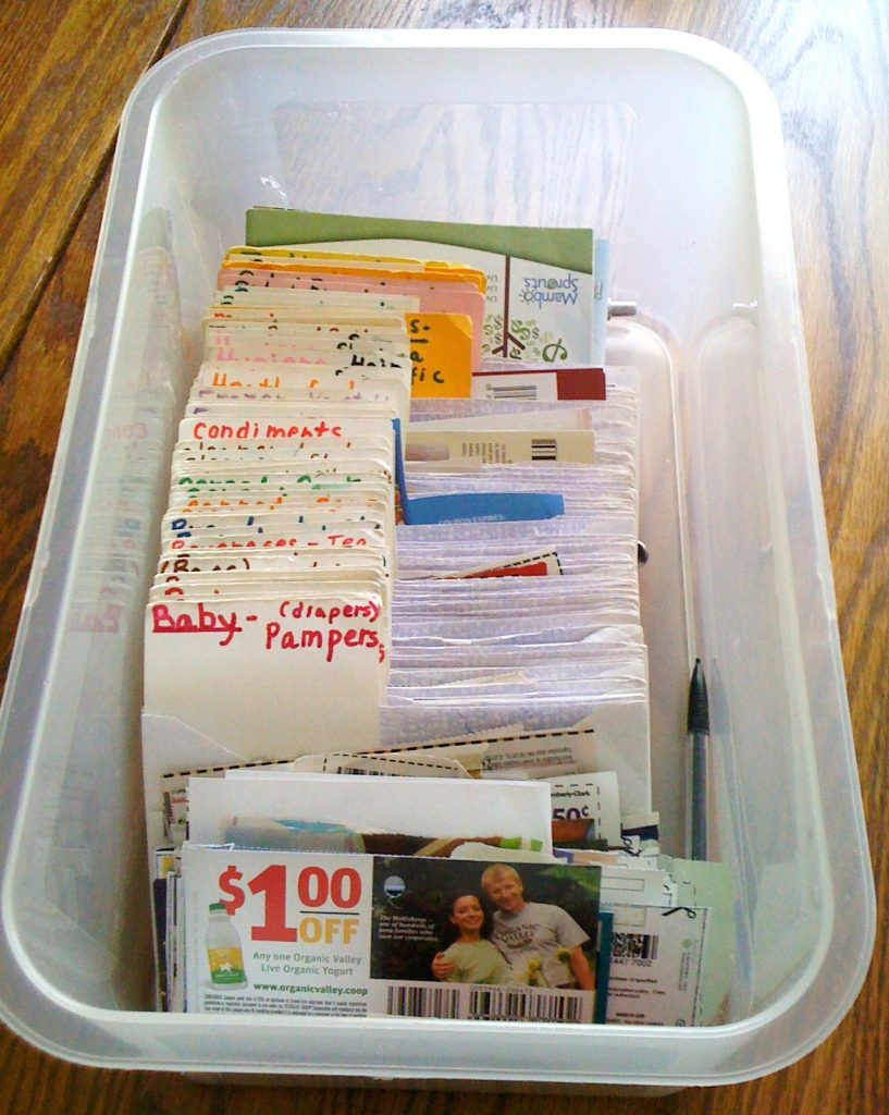 How to organize coupons. Different methods for the best way to organize your coupons. How to make a coupon binder, how to make a coupon box, how to file your coupon inserts. Using a coupon database to get the coupons you need.