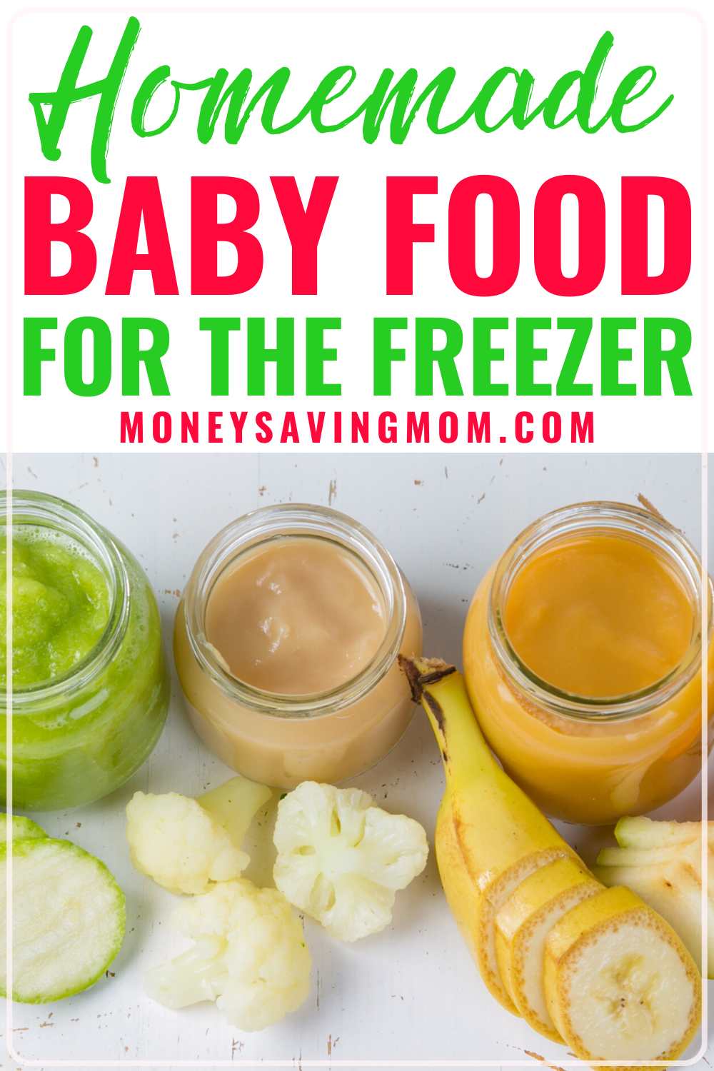 Homemade Baby Food for the Freezer