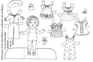 Free downloadable Shirley Temple paper dolls Money Saving Mom