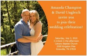 Frugal Wedding Invitation