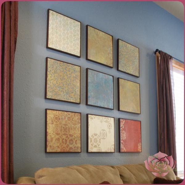 Do-It-Yourself Scrapbook Paper Wall Art - Money Saving Mom® : Money ...