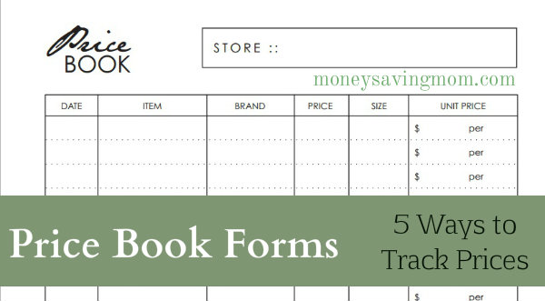 Price book forms money saving mom you fandeluxe Image collections