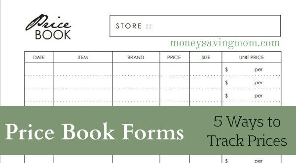 price book forms money saving mom money saving mom