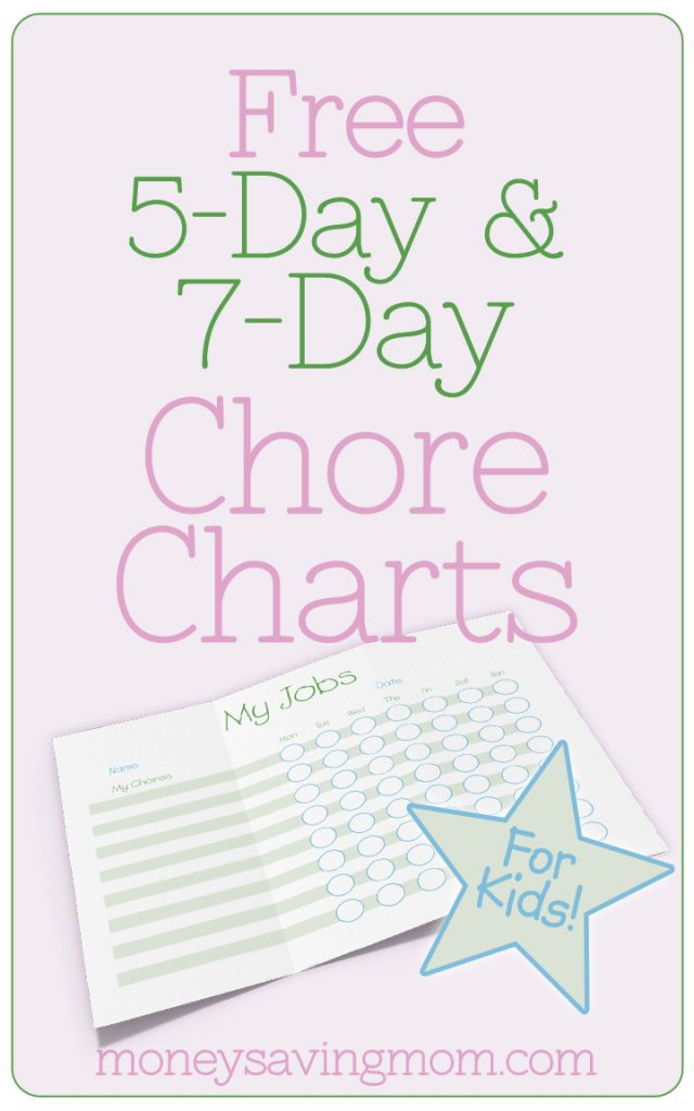 Money Saving Mom® Customizable Chore Charts