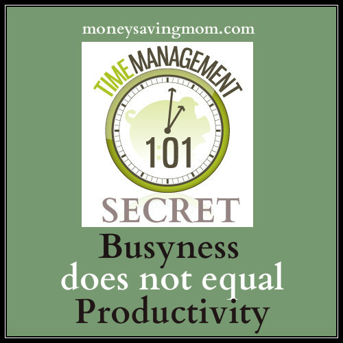 busyness does not equal productivity