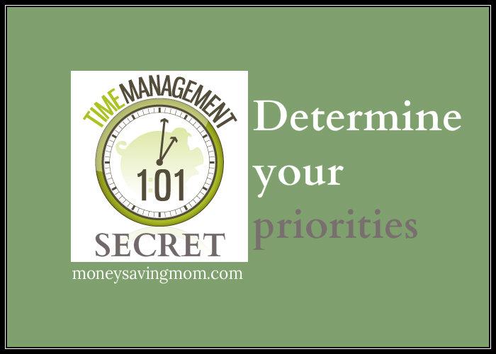 determine your priorities