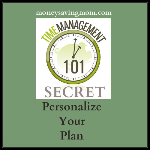 personalize your time plan