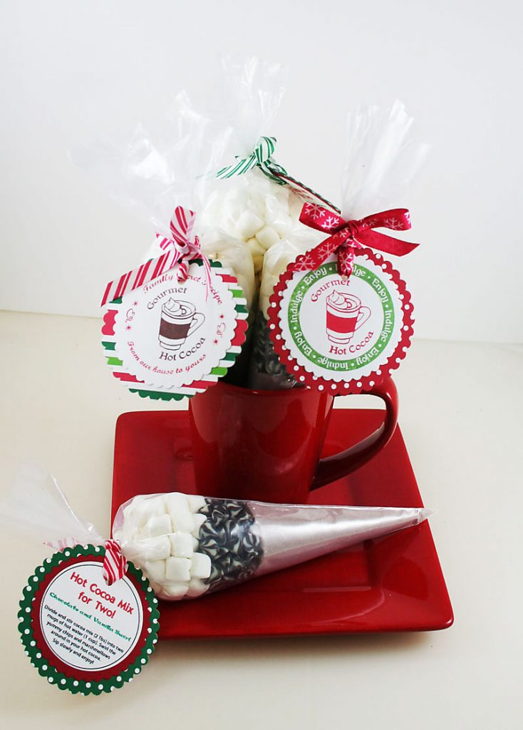 hot cocoa mix is always a popular homemade christmas gift
