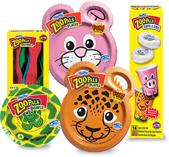 Hereu0027s another great deal at Walmart Buy 3 Hefty Zoo Pals ...  sc 1 st  Money Saving Mom & Walmart: Hefty ZooPals Paper Products for $0.99 each - Money Saving Mom®