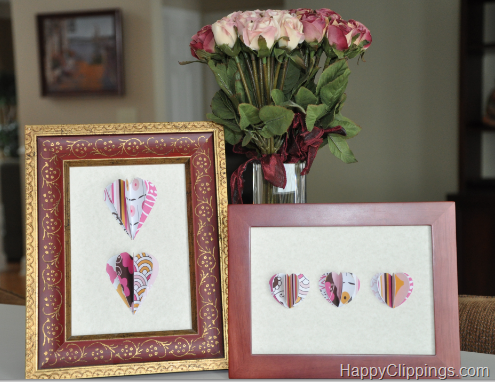i thought this was a cute and simple idea from happy clippings for making and framing 3d paper hearts do you have a fun and frugal diy - Do It Yourself Picture Frames