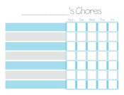 Now available free customizable chore charts and daily cleaning