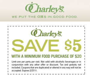 image regarding O'charley's $5 Off $20 Printable Coupon called Ocharleys coupon codes 5 off / Freebies principal record