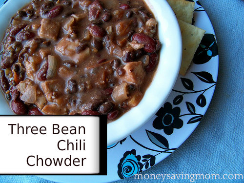 Three Bean Chili Chowder Recipe - Money Saving Mom®
