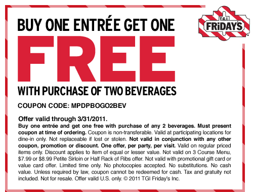 Tgif coupons for 2018