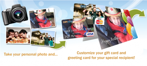 GiftCards Offers Personalized Visa Gift Cards You Can Take A Photo And Upload