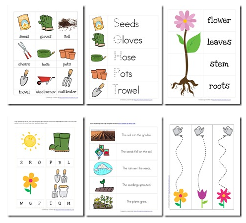free gardening themed preschoolhomeschool printables - Free Printables For Preschool