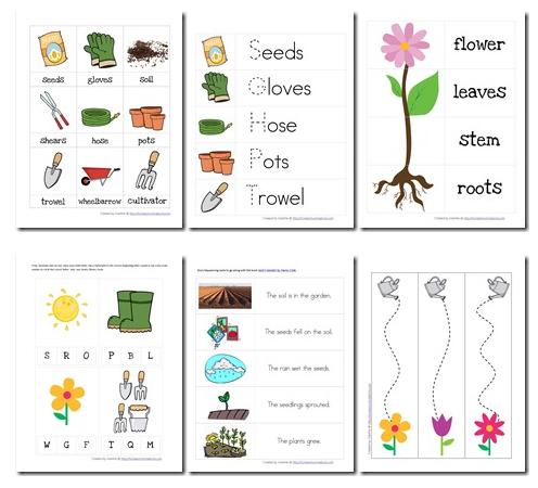 Educational Freebie: Preschool Garden-Themed Printable Pack ...