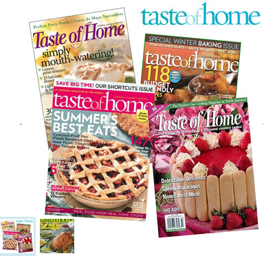 Taste Of Home Better Homes And Gardens And Family Fun Magazines For Per Year