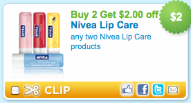 $2/2 Nivea lip balm printable coupon