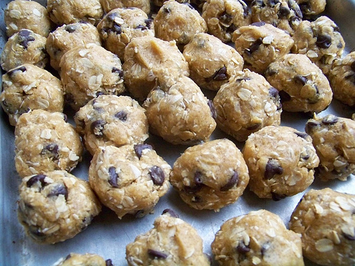 ... dough into balls and place on a cookie sheet. Freeze for 1-2 hours