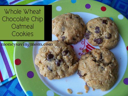 Whole-Wheat Chocolate Chip Oatmeal Cookie Recipe - Money Saving Mom®