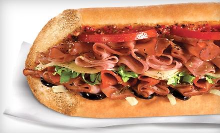 Quiznos Buy One Get One Free Pulled Pork Sub Sandwich  Quiznos Deli Sub