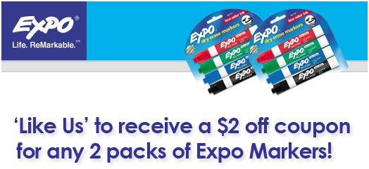 2 2 expo markers printable coupon free at walgreens facebook