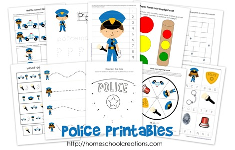 police badge template for preschool - educational freebie police preschool kindergarten