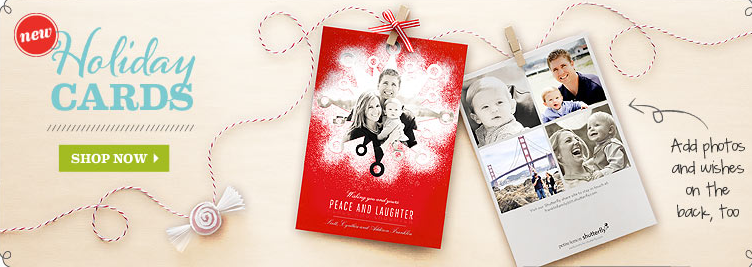 Shutterfly 25 Free Holiday Cards for Bloggers Money