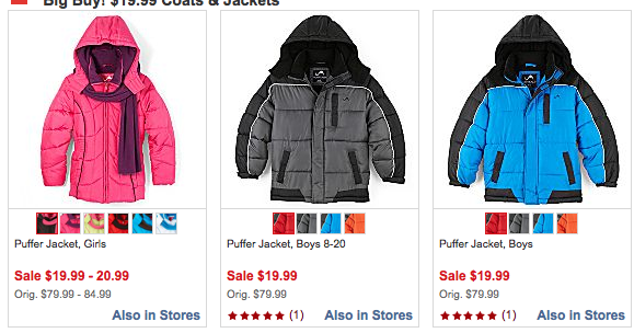 JCPenney: Kids' Winter Coats for $19.99 shipped to store   3 ...