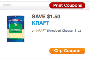 graphic relating to Kraft Coupons Printable identify Absent $1.50/1 Kraft Shredded Cheese printable coupon