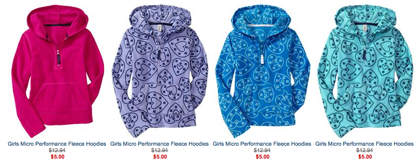 b04f7ebcf They have girls and infant Micro Performance Fleece Hoodies and Jackets ...