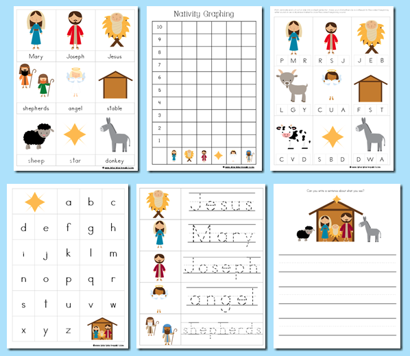 Educational Freebies: Christmas and Nativity Printable Packs ...