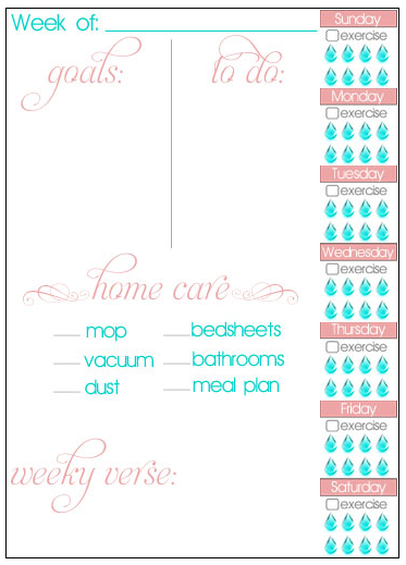 15 Free Goal-Setting and Home Management Printables
