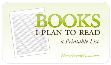 image about Books to Read Printable named Customizable Printable Looking through Listing Income Conserving Mother