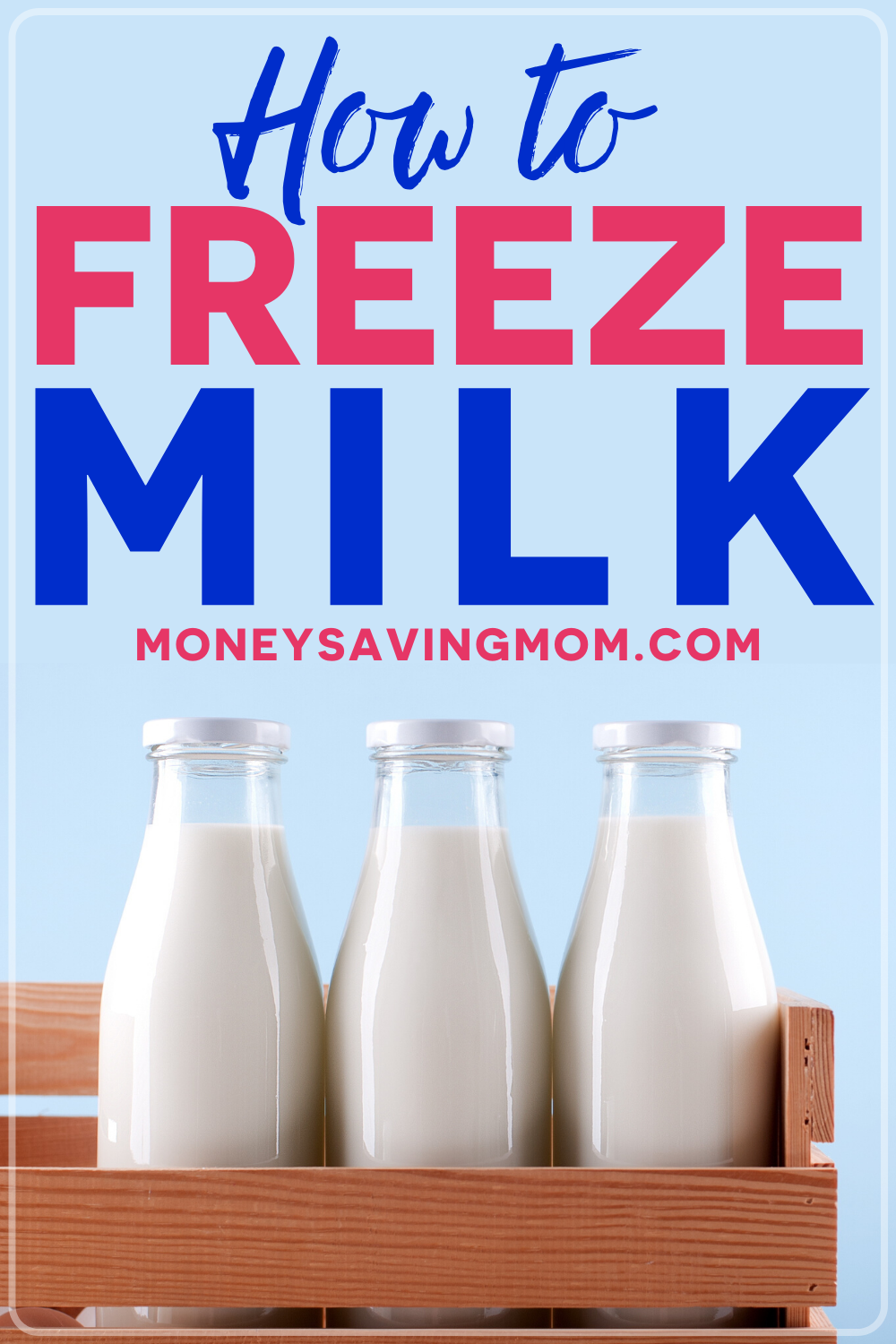how to freeze milk in a carton