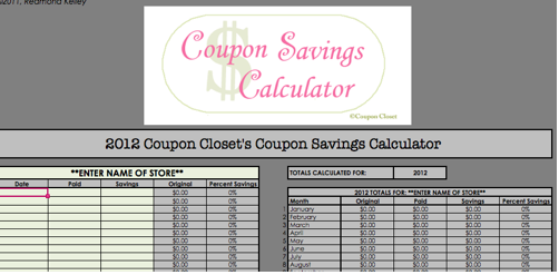 Coupon Shopping List Spreadsheet  Money Coupon Template