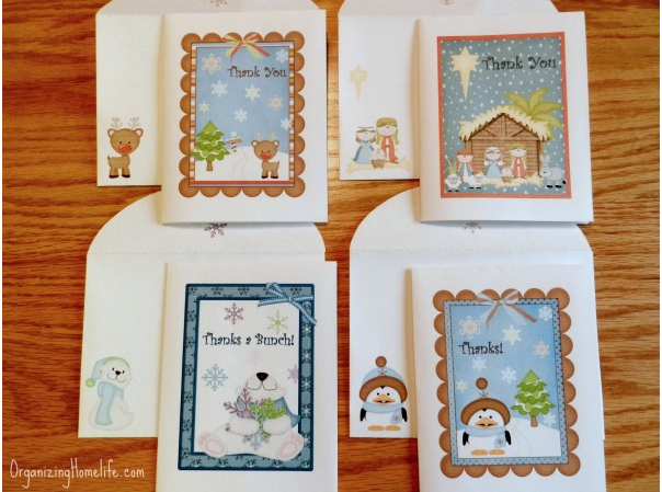 Free printable Christmas thank you cards and envelopes - Money ...
