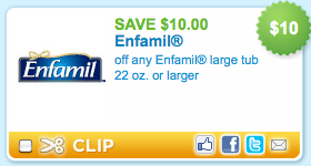 picture about Enfamil Printable Coupons named $10/1 Enfamil printable coupon \u003d again all over again! Funds Preserving