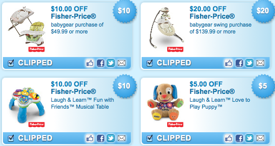 Fisher price online coupons