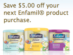 graphic about Printable Formula Coupons referred to as $5/1 Enfamil Components coupon \u003d probably totally free at Walmart