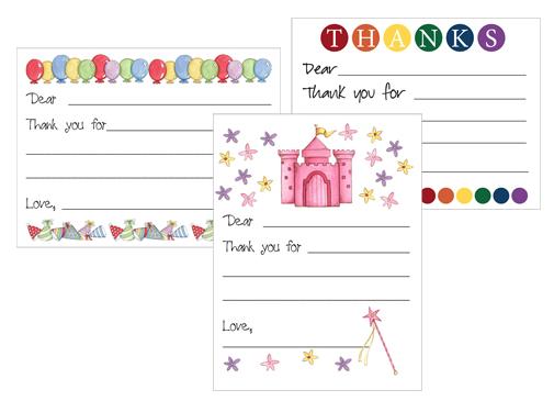 Free printable Kids Thank You card templates Money Saving Mom – Thank You Template Free