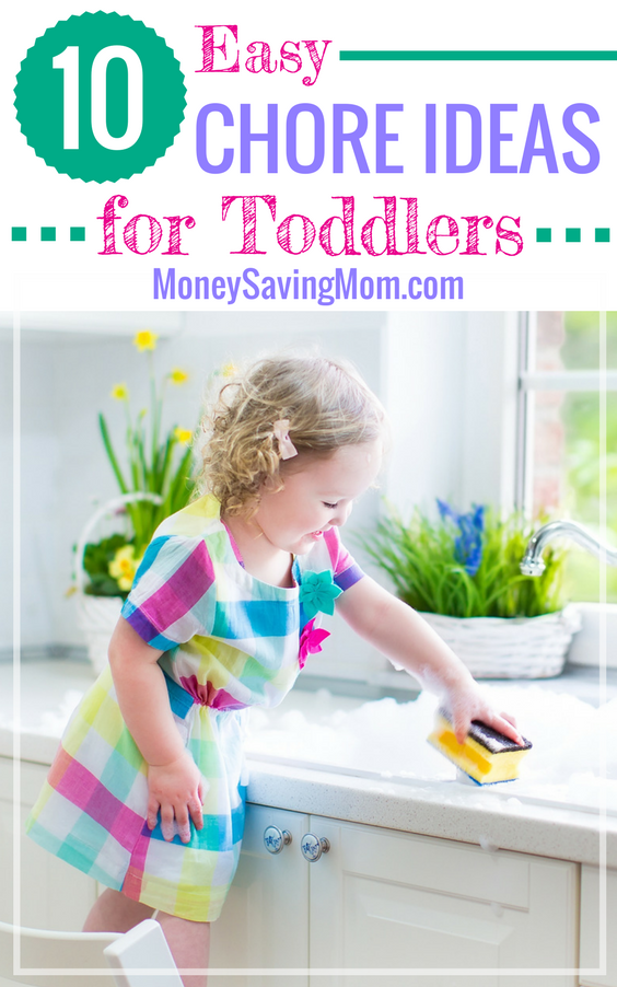 Need chore ideas for toddlers? This is a really helpful list or practical ideas!